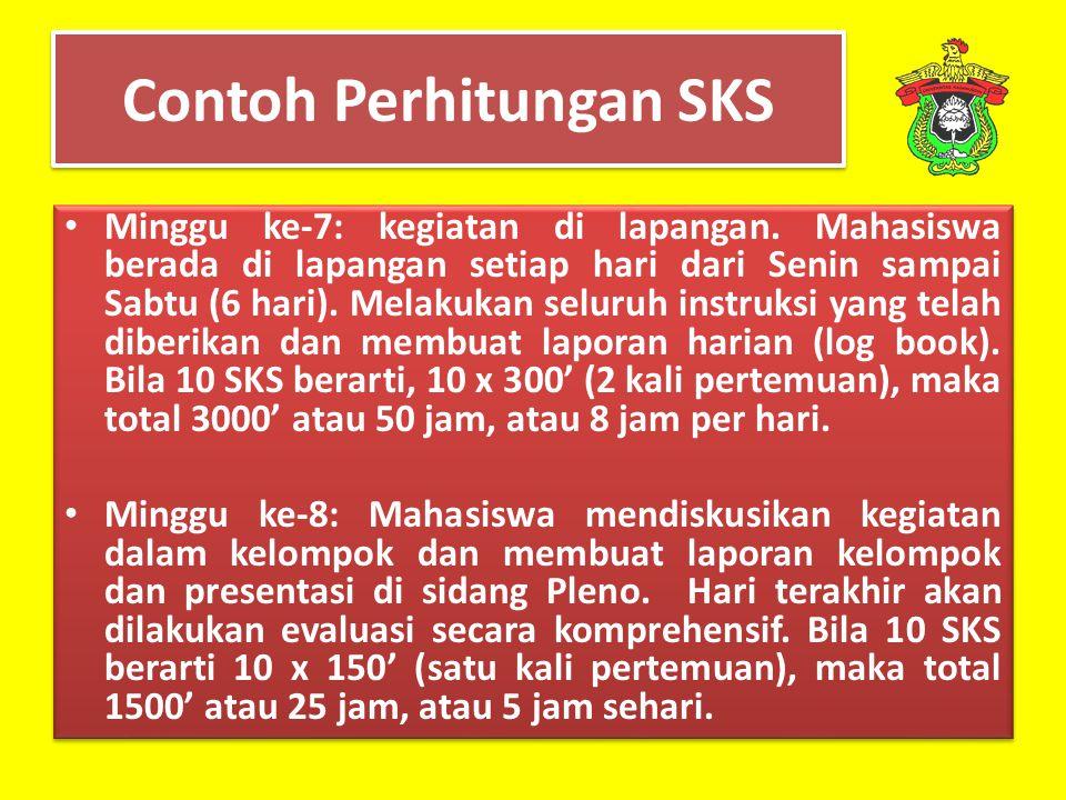Contoh Perhitungan SKS