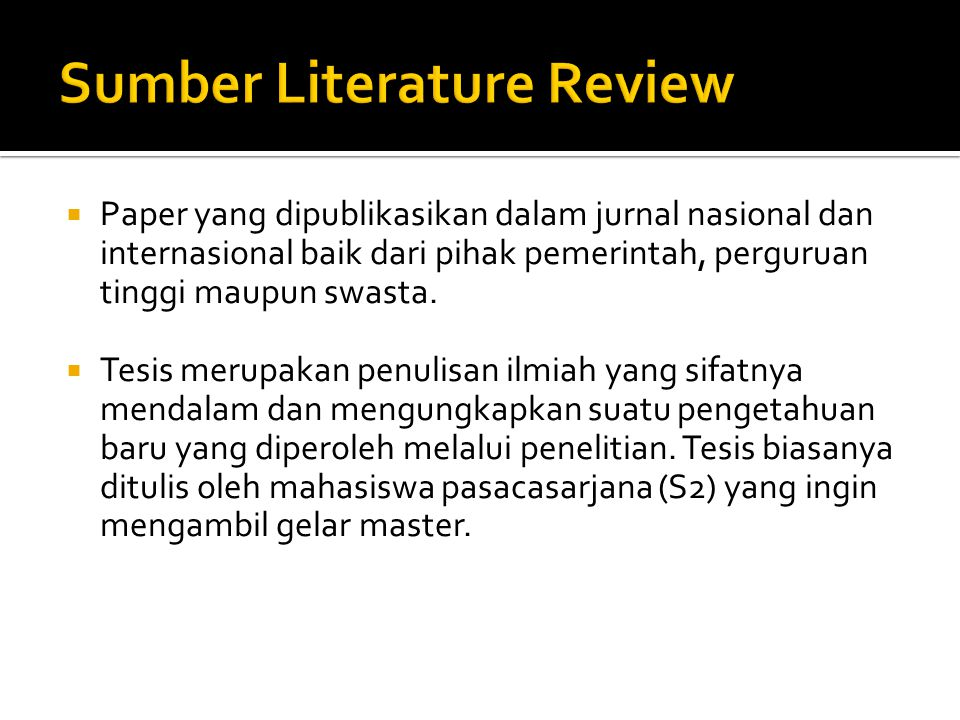 Sumber Literature Review