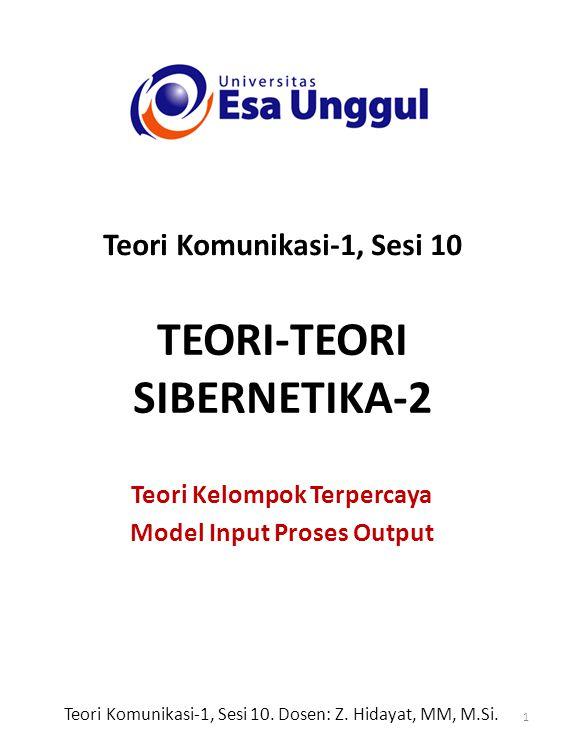 TEORI-TEORI SIBERNETIKA-2