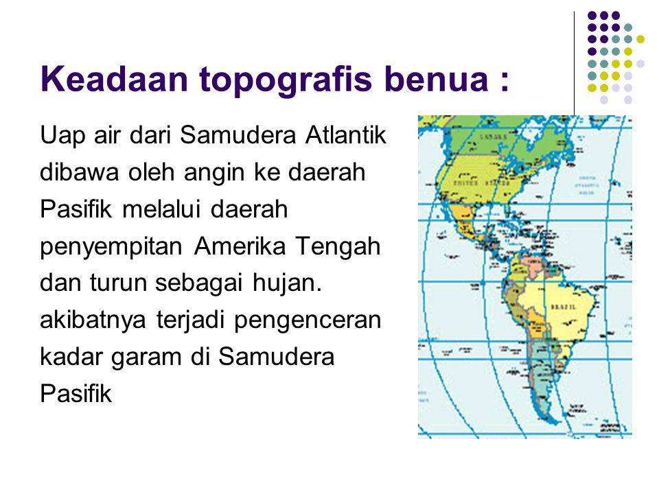 Keadaan topografis benua :