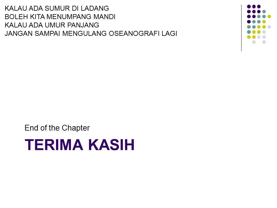 Terima kasih End of the Chapter KALAU ADA SUMUR DI LADANG