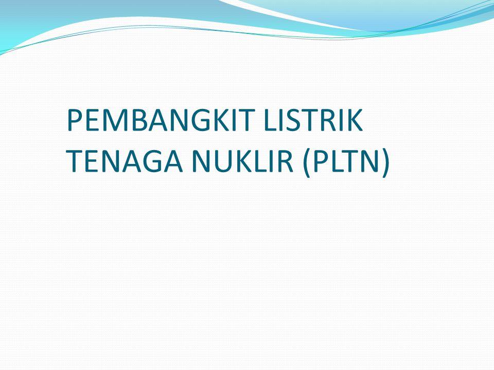 PEMBANGKIT LISTRIK TENAGA NUKLIR (PLTN)