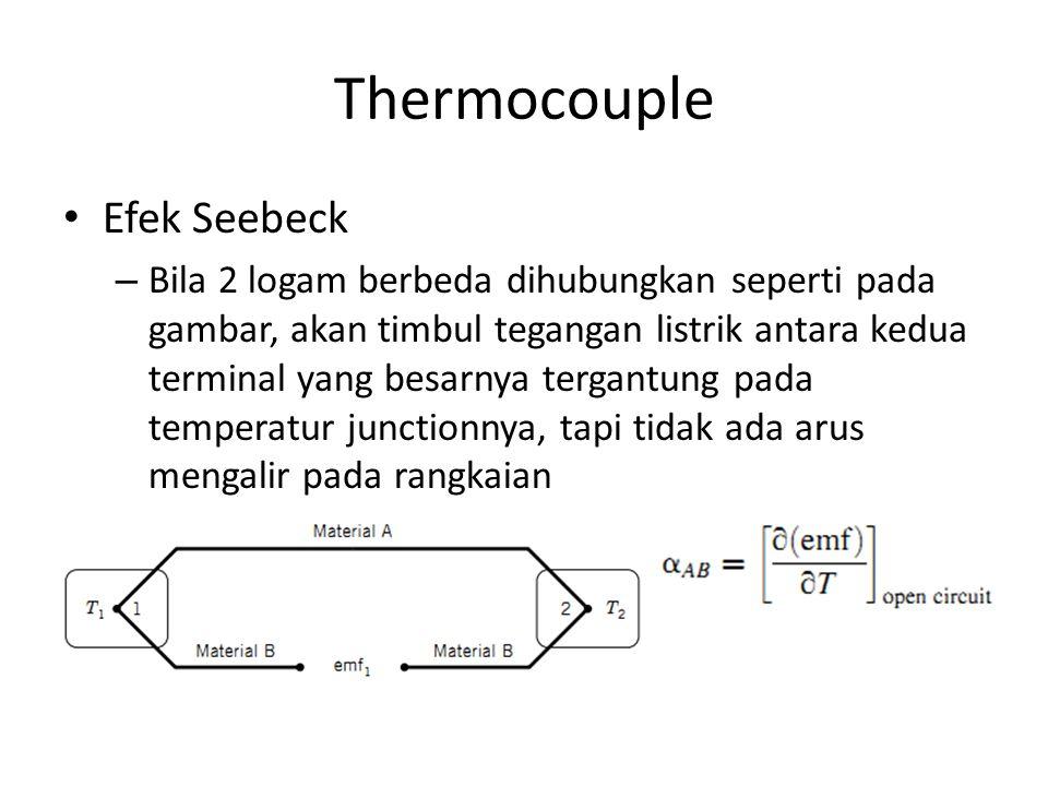 Thermocouple Efek Seebeck