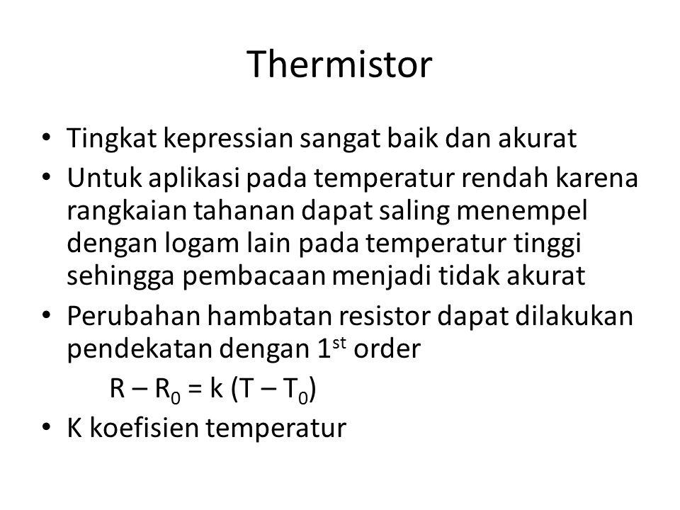 Thermistor Tingkat kepressian sangat baik dan akurat