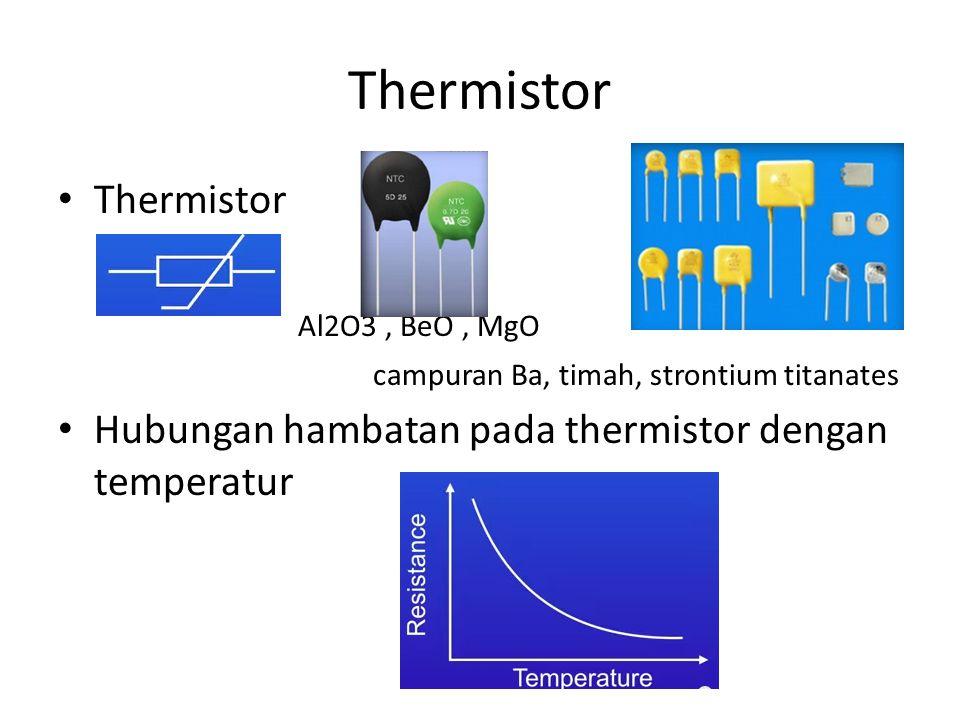 Thermistor Thermistor Al2O3 , BeO , MgO