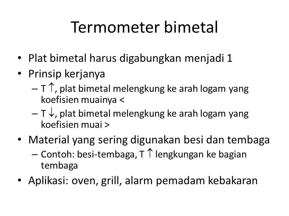 Termometer bimetal Plat bimetal harus digabungkan menjadi 1
