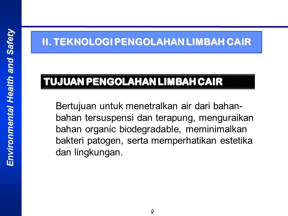 II. TEKNOLOGI PENGOLAHAN LIMBAH CAIR