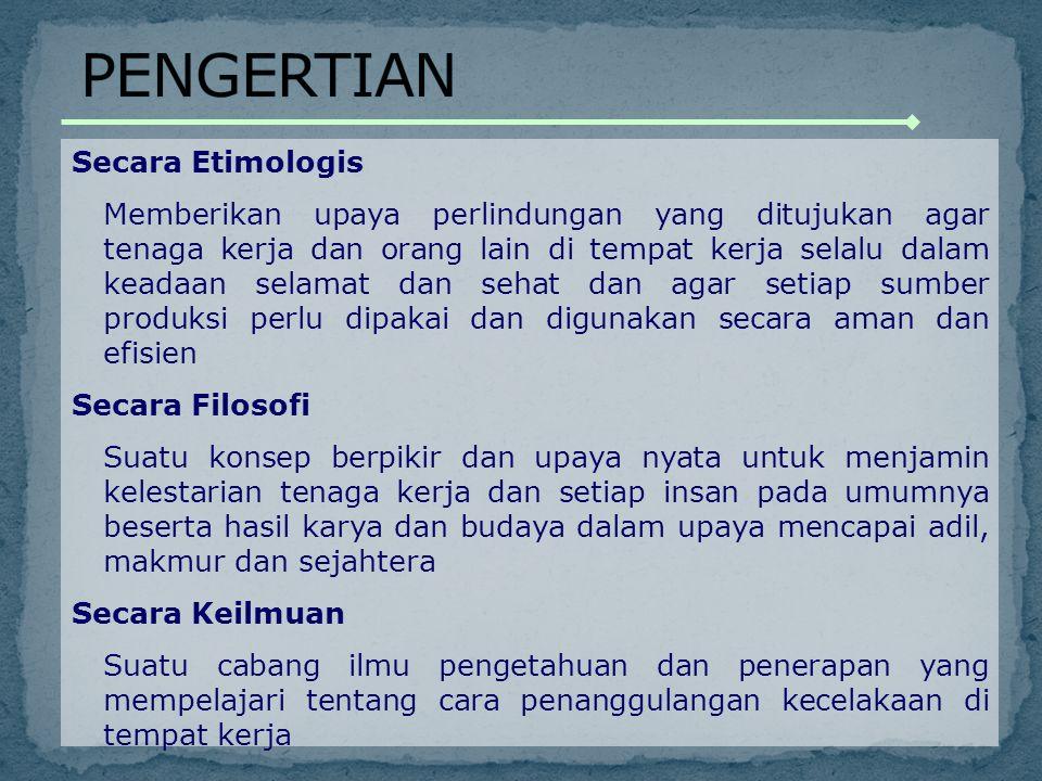 PENGERTIAN Secara Etimologis
