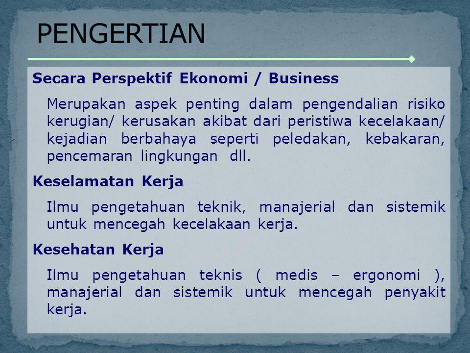 PENGERTIAN Secara Perspektif Ekonomi / Business