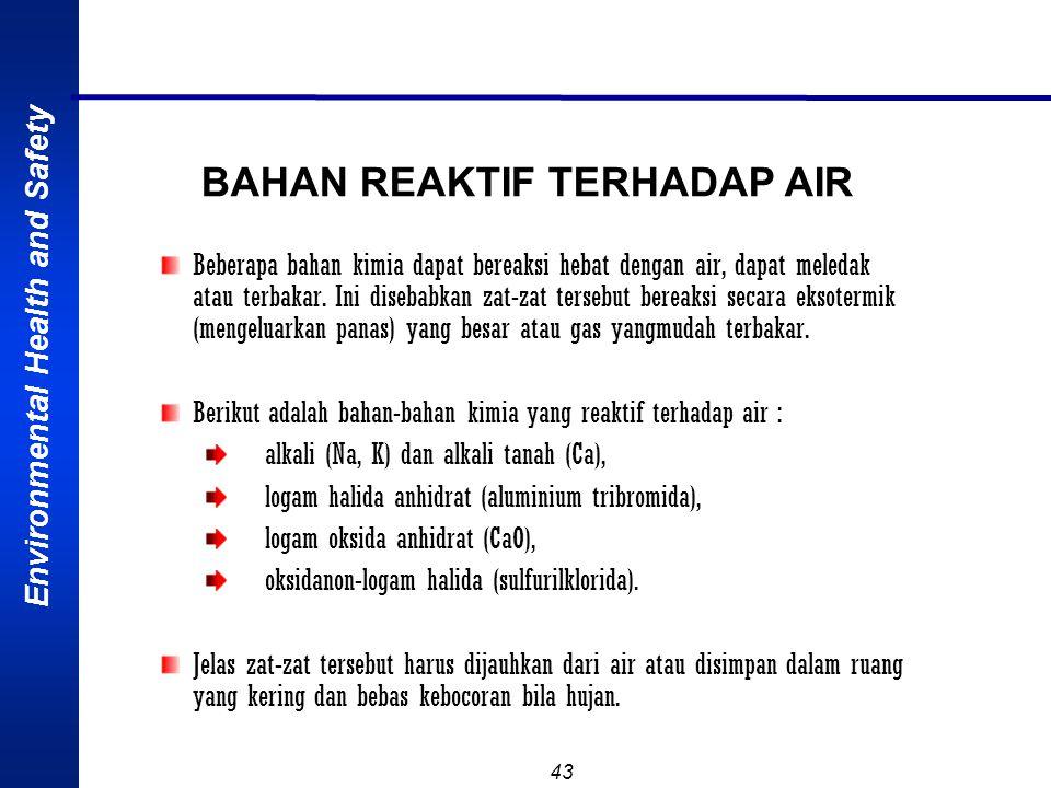 BAHAN REAKTIF TERHADAP AIR