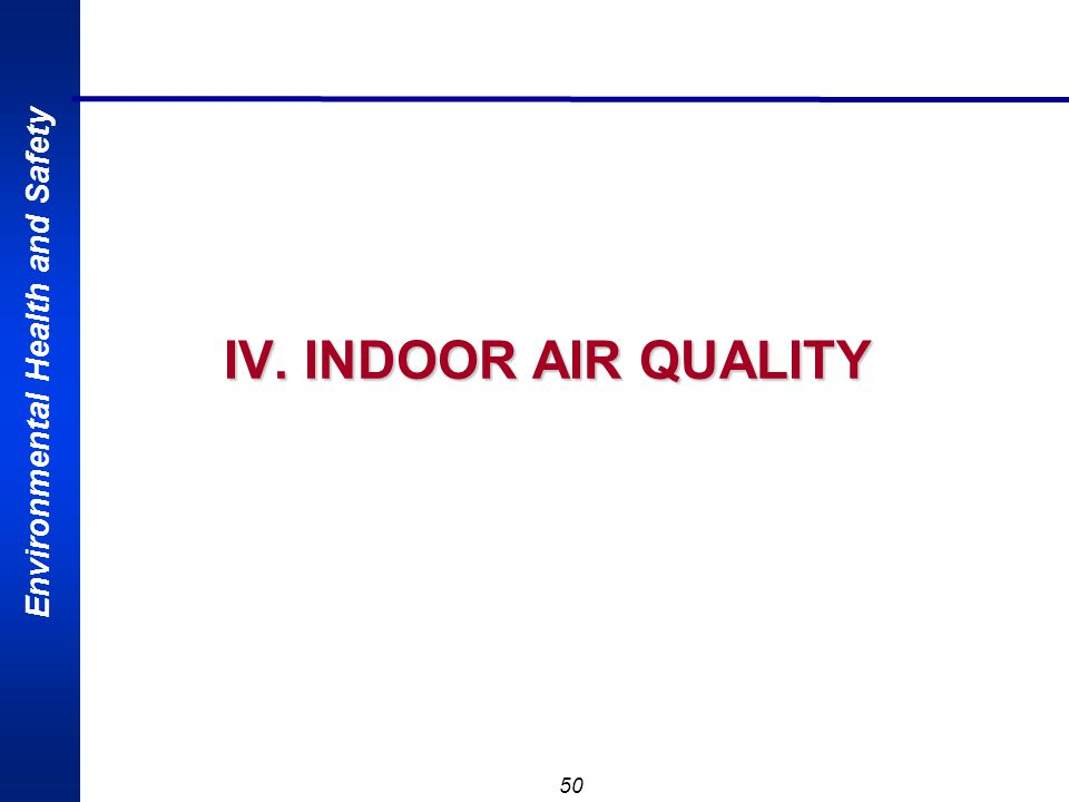 IV. INDOOR AIR QUALITY