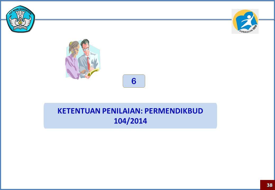 KETENTUAN PENILAIAN: PERMENDIKBUD 104/2014