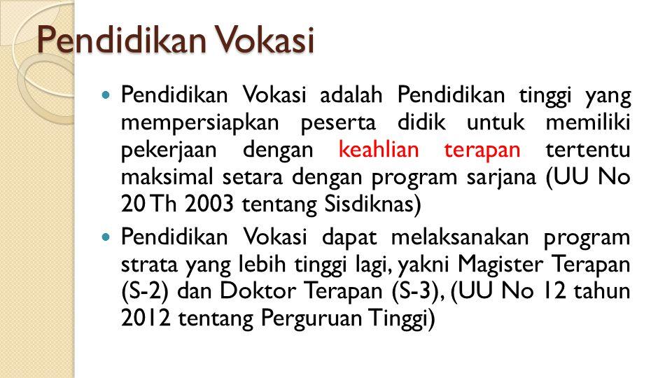 Pendidikan Vokasi