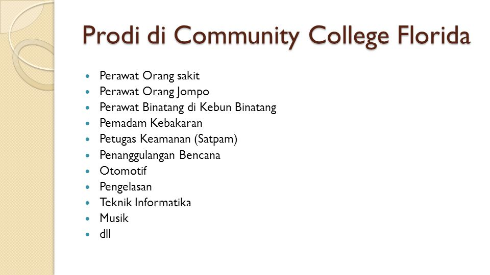 Prodi di Community College Florida