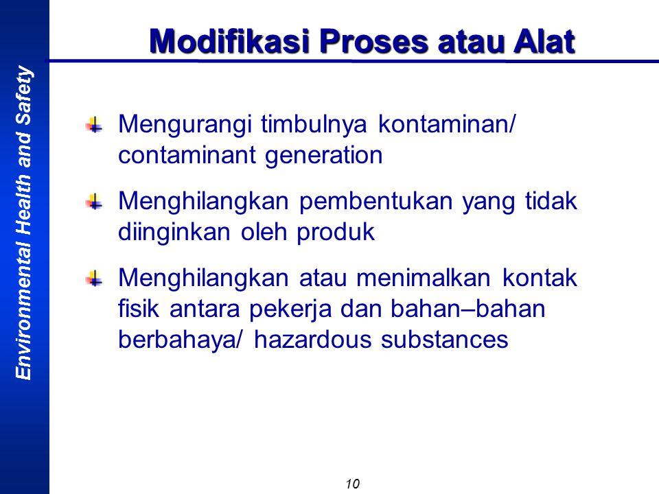 Modifikasi Proses atau Alat