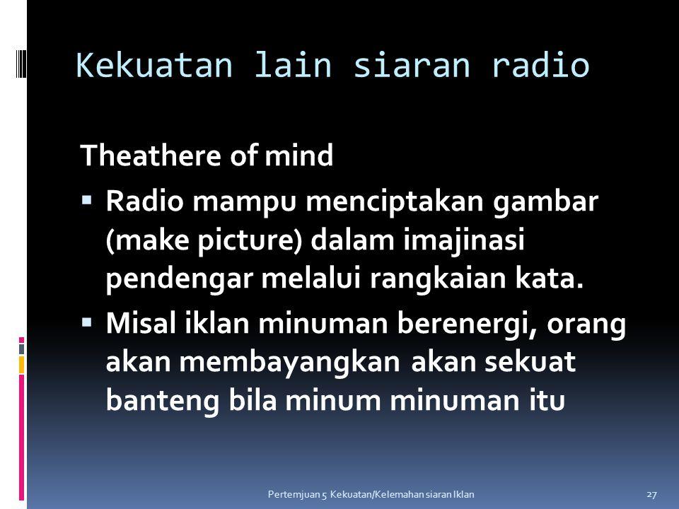 Kekuatan lain siaran radio