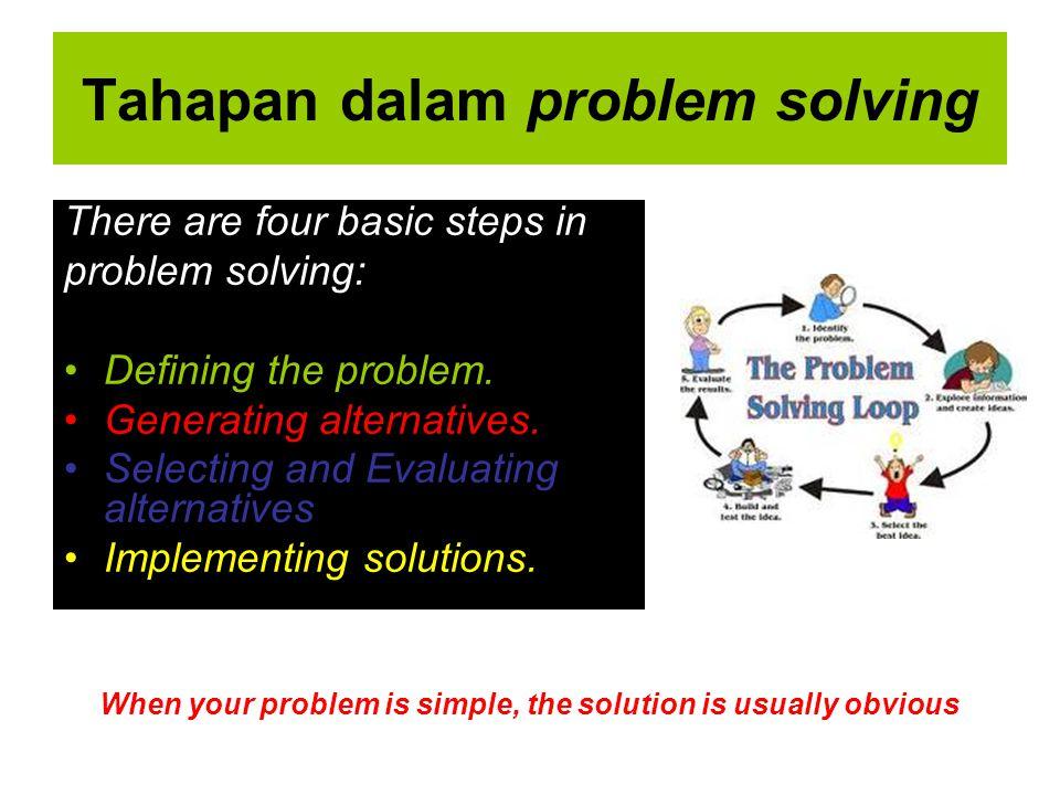 Tahapan dalam problem solving