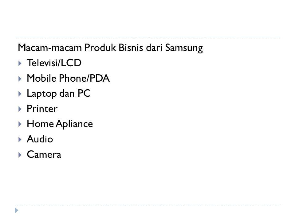 Macam-macam Produk Bisnis dari Samsung