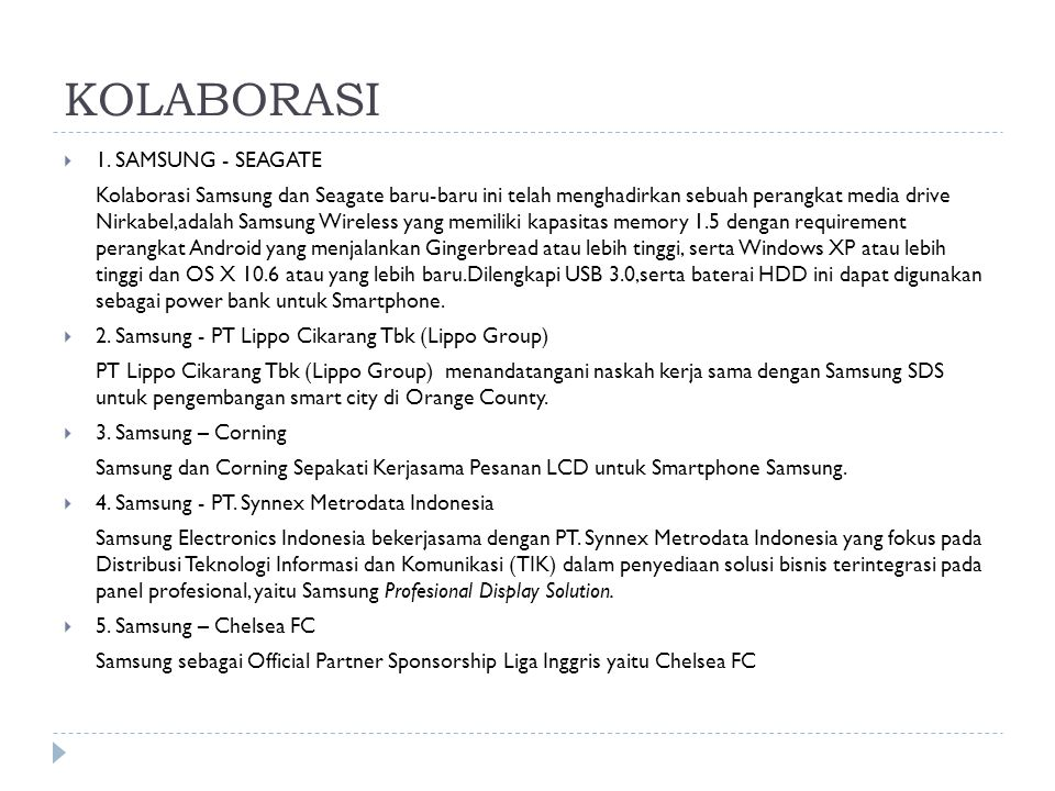 KOLABORASI 1. SAMSUNG - SEAGATE