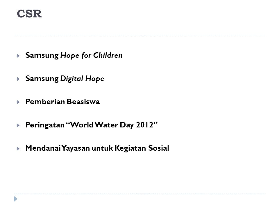CSR Samsung Hope for Children Samsung Digital Hope Pemberian Beasiswa