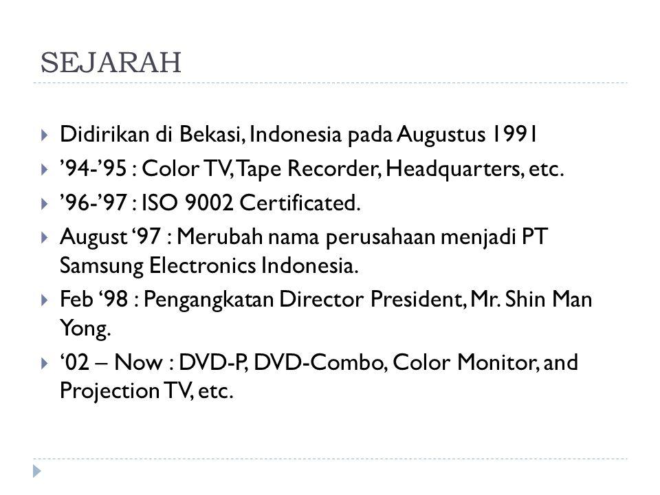 SEJARAH Didirikan di Bekasi, Indonesia pada Augustus 1991