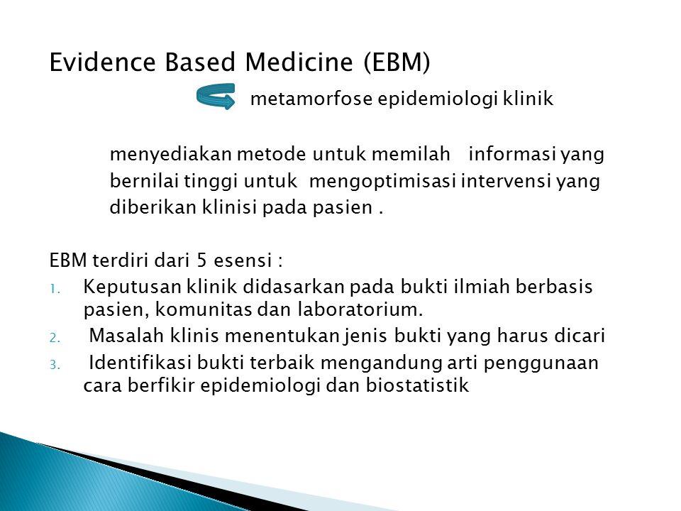 Evidence Based Medicine (EBM) metamorfose epidemiologi klinik