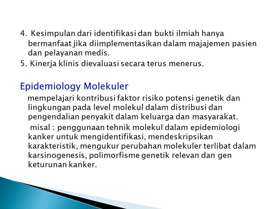 Epidemiology Molekuler