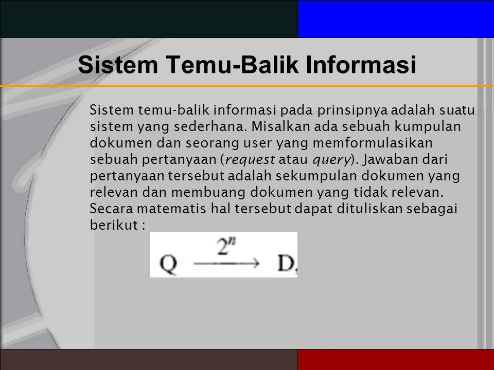 Sistem Temu-Balik Informasi