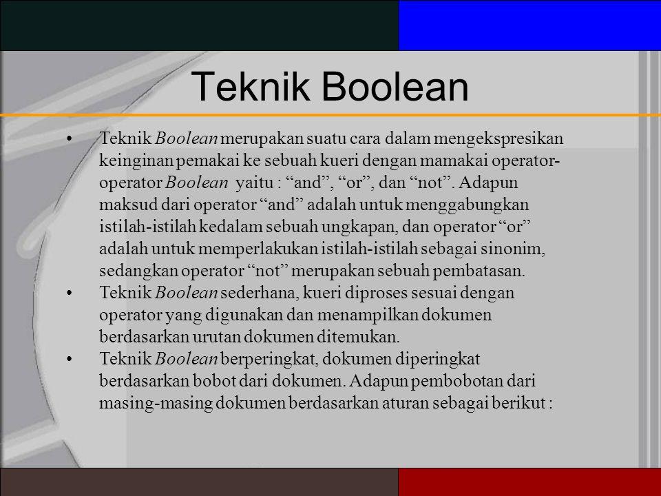 Teknik Boolean