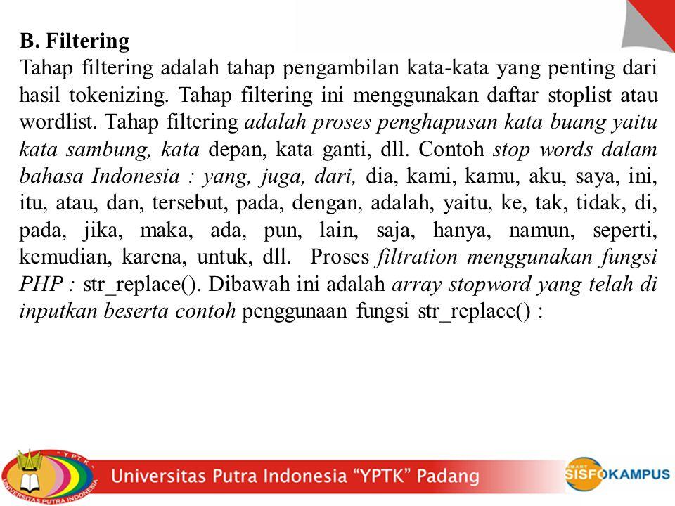 B. Filtering