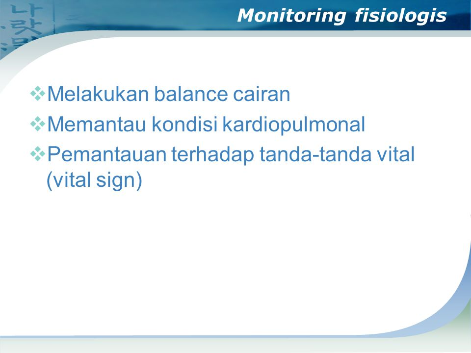 Monitoring fisiologis
