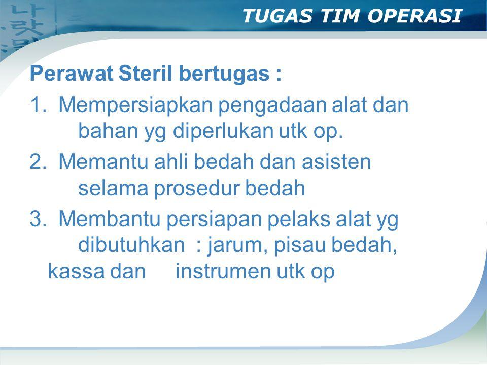 TUGAS TIM OPERASI