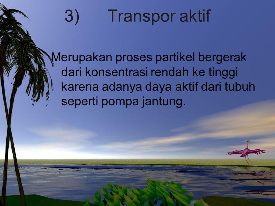 3) Transpor aktif