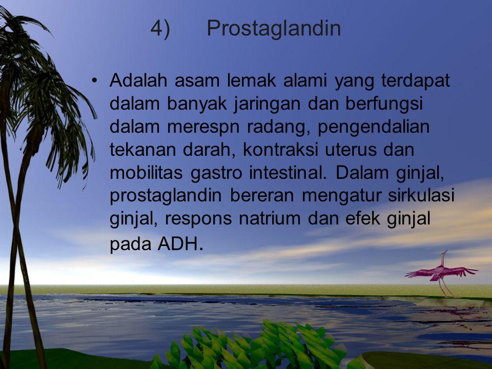 4) Prostaglandin
