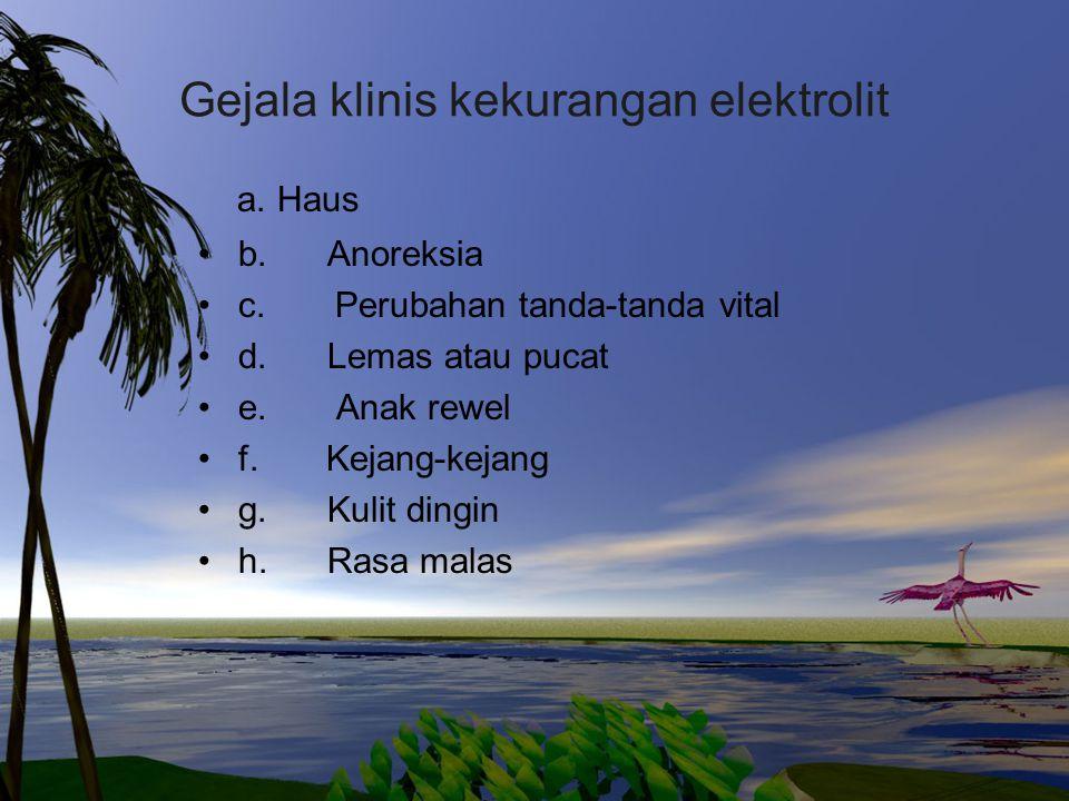 Gejala klinis kekurangan elektrolit