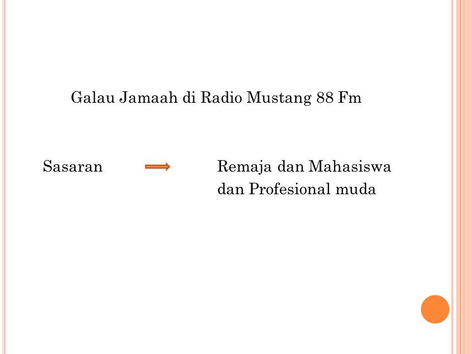 Galau Jamaah di Radio Mustang 88 Fm