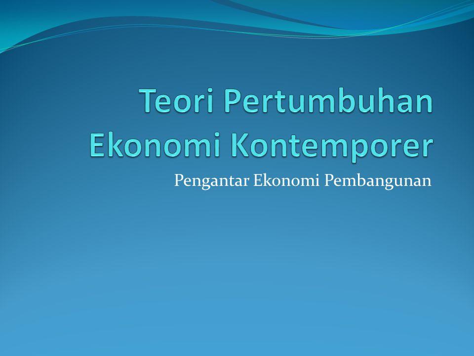 Teori Pertumbuhan Ekonomi Kontemporer