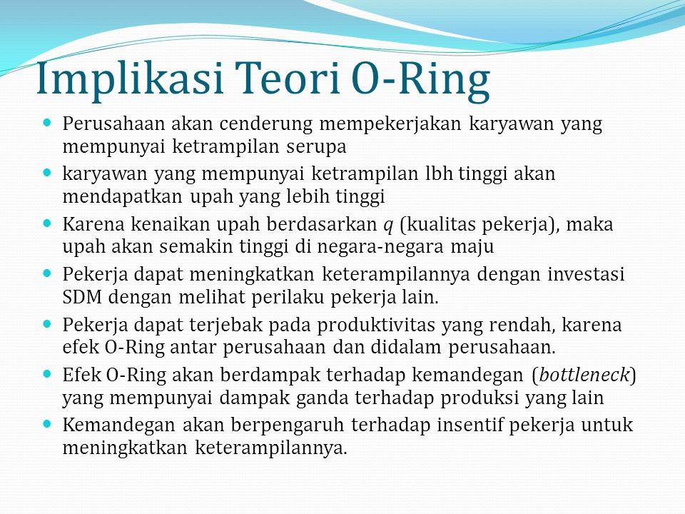 Implikasi Teori O-Ring