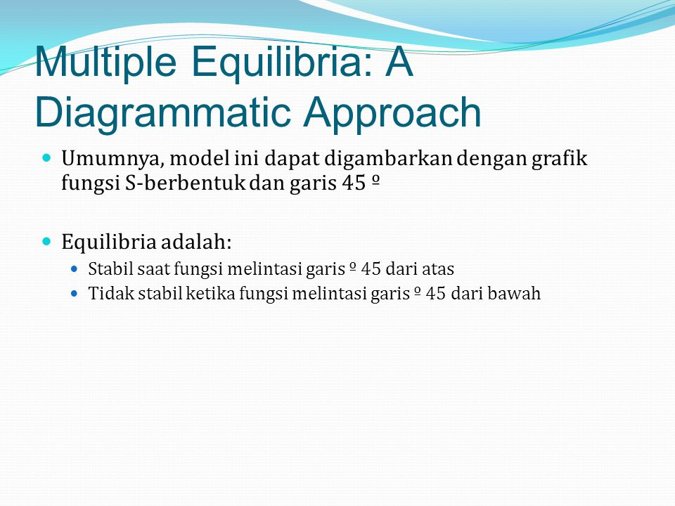 Multiple Equilibria: A Diagrammatic Approach