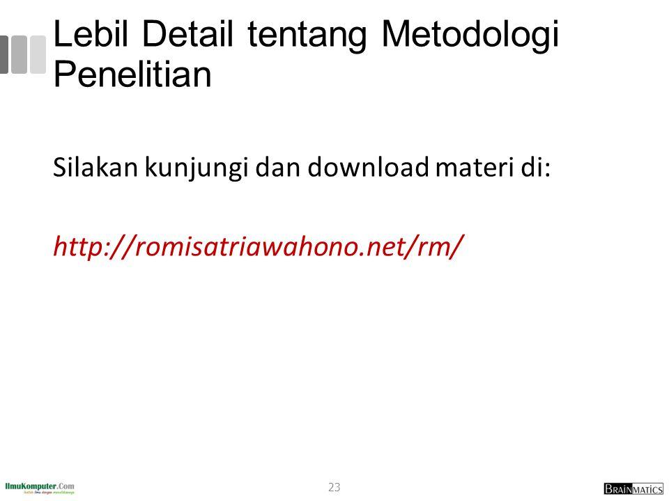 Lebil Detail tentang Metodologi Penelitian