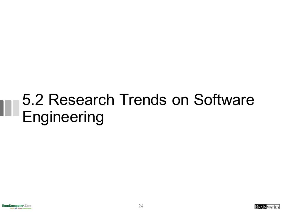 5.2 Research Trends on Software Engineering