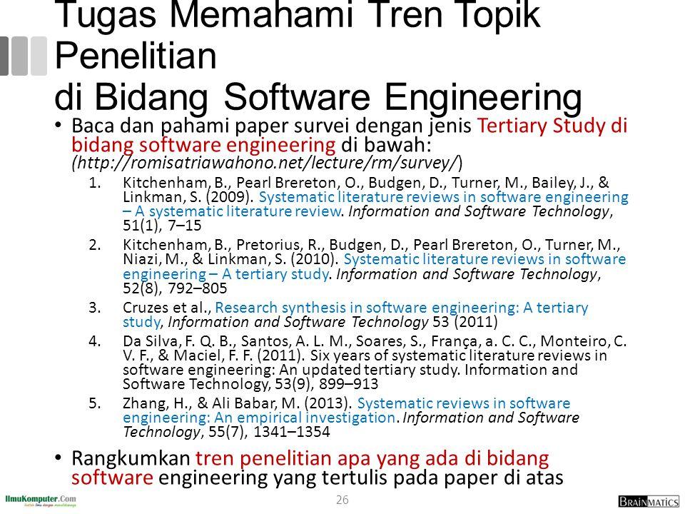 Tugas Memahami Tren Topik Penelitian di Bidang Software Engineering
