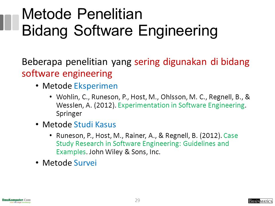 Metode Penelitian Bidang Software Engineering