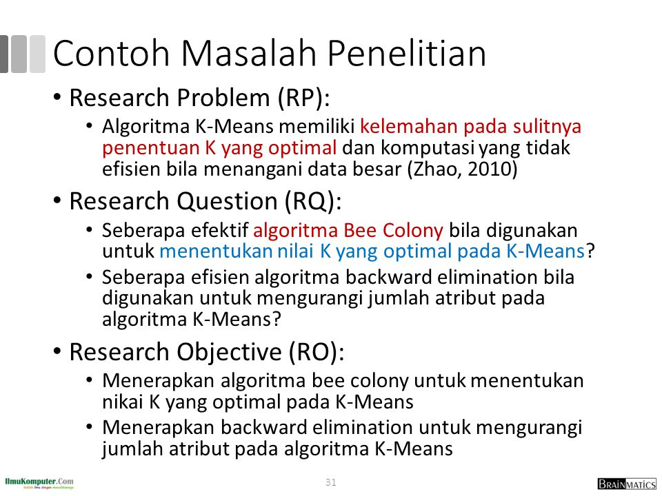 Contoh Masalah Penelitian
