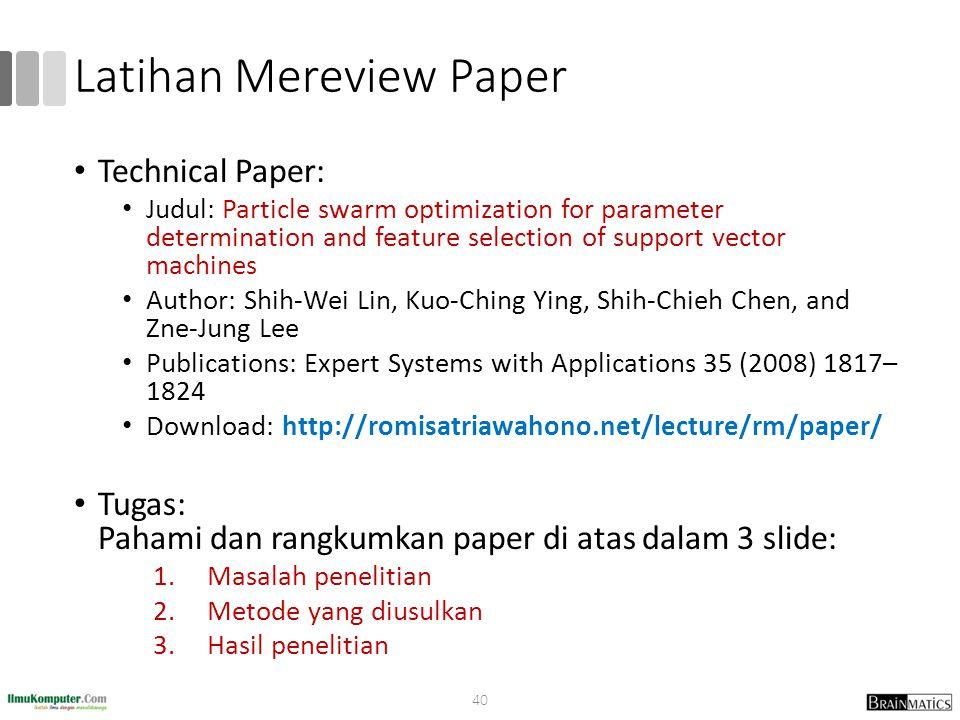 Latihan Mereview Paper