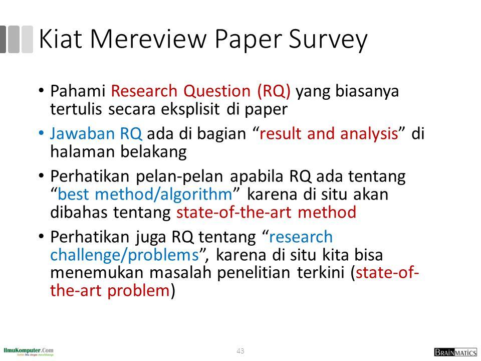 Kiat Mereview Paper Survey