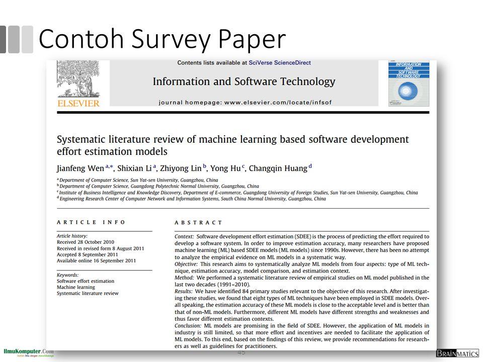 Contoh Survey Paper