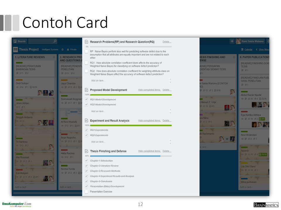Contoh Card