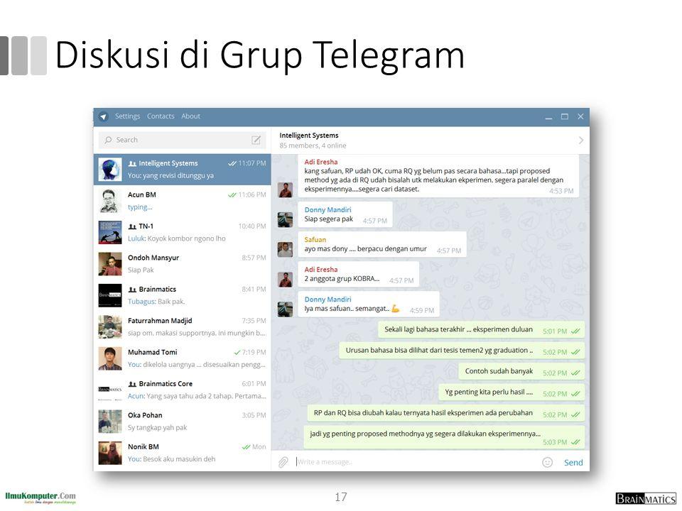 Diskusi di Grup Telegram