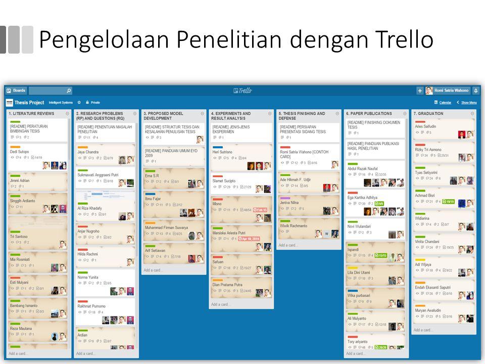 Pengelolaan Penelitian dengan Trello